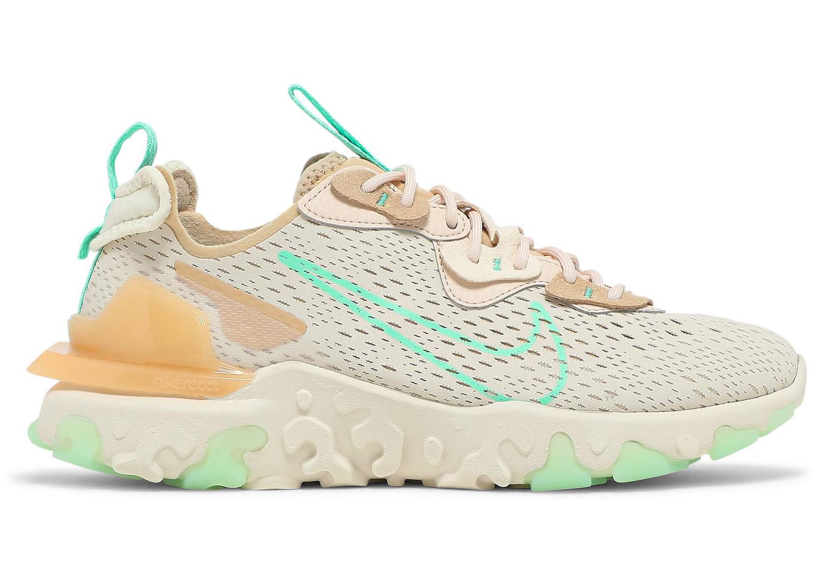 Nike React Vision Pearl White Green Glow (W)