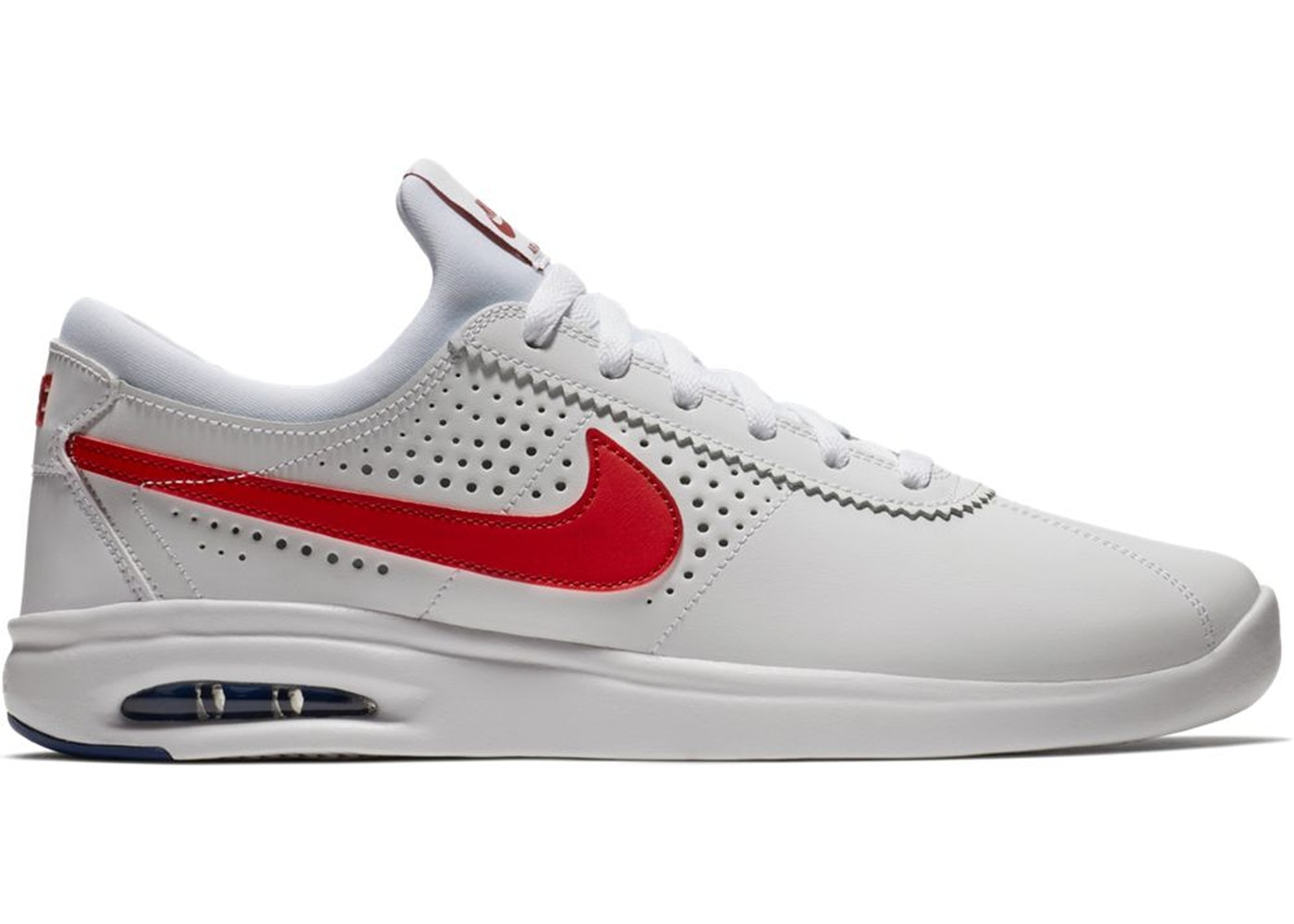 Nike SB Air Max Bruin Vapor White Red - 882097-100