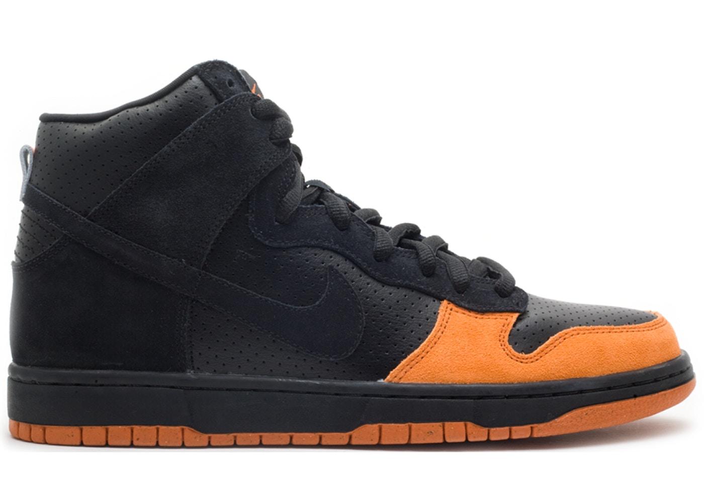 Nike SB Dunk High Black Solar Orange