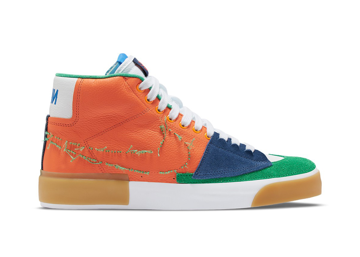 Nike SB Zoom Blazer Mid Edge Safety Orange University Gold