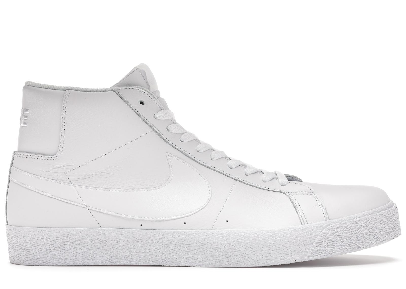 Nike SB Zoom Blazer Mid Triple White - 864349-105