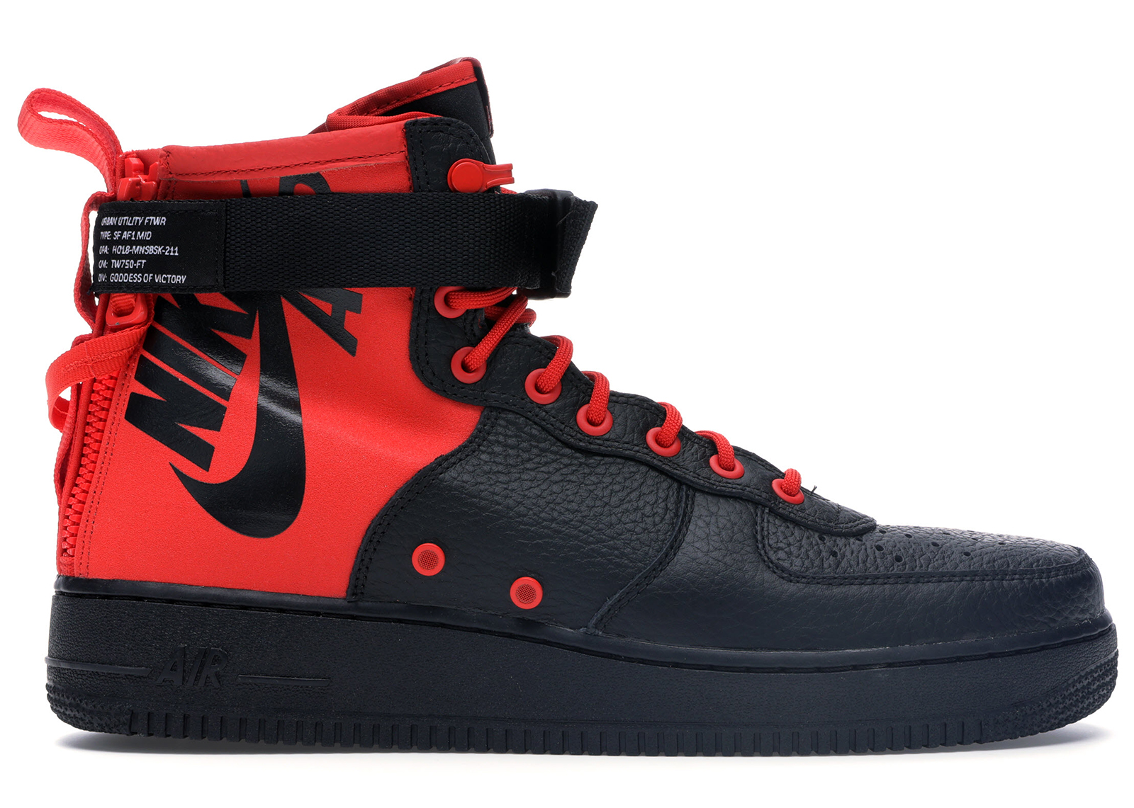 Nike SF Air Force 1 Mid Habanero Red Black