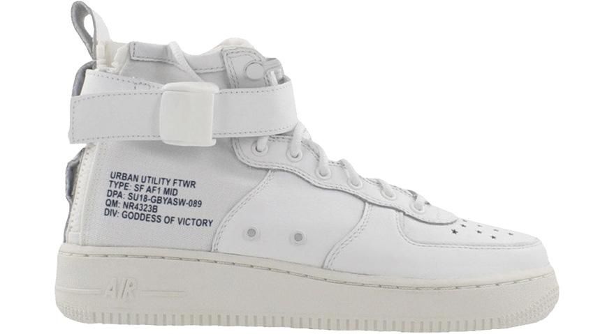 Nike SF Air Force One Mid White (GS)