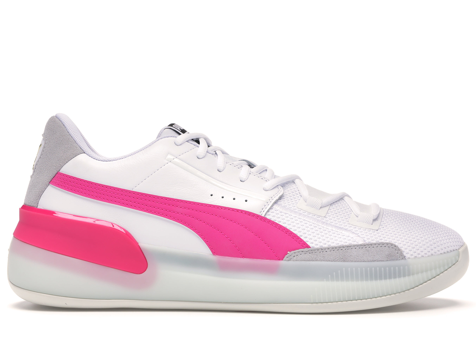 Puma Clyde Hardwood White Pink