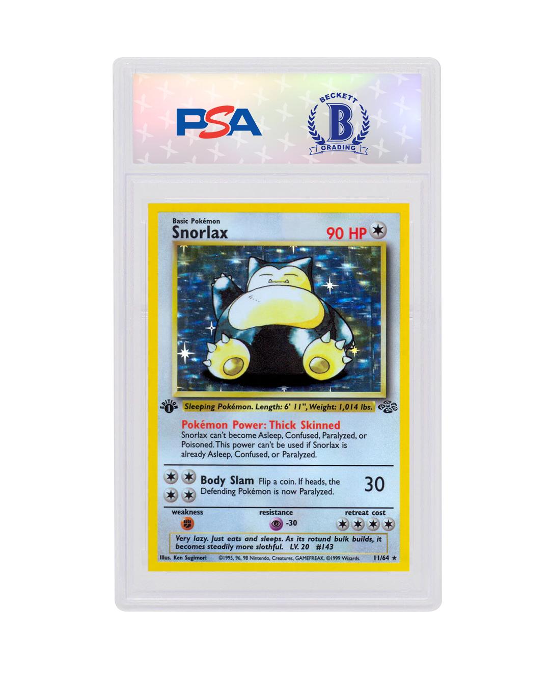 Hologram 1999 WOTC Pokemon Snorlax Near Mint card #11//64 Jungle series