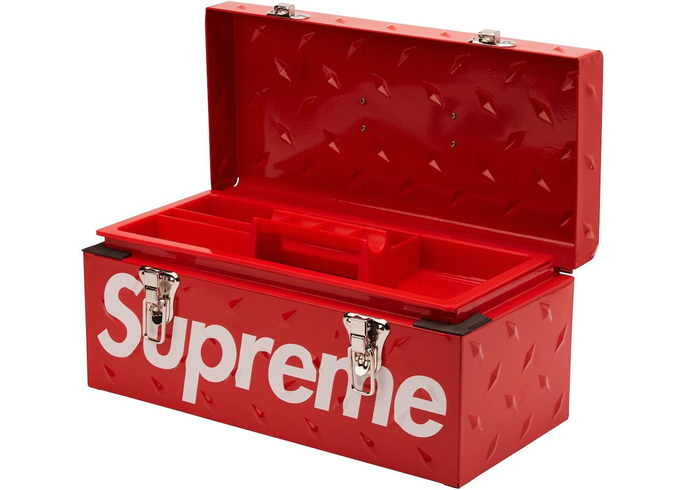 Supreme Diamond Plate Tool Box Red   FW20