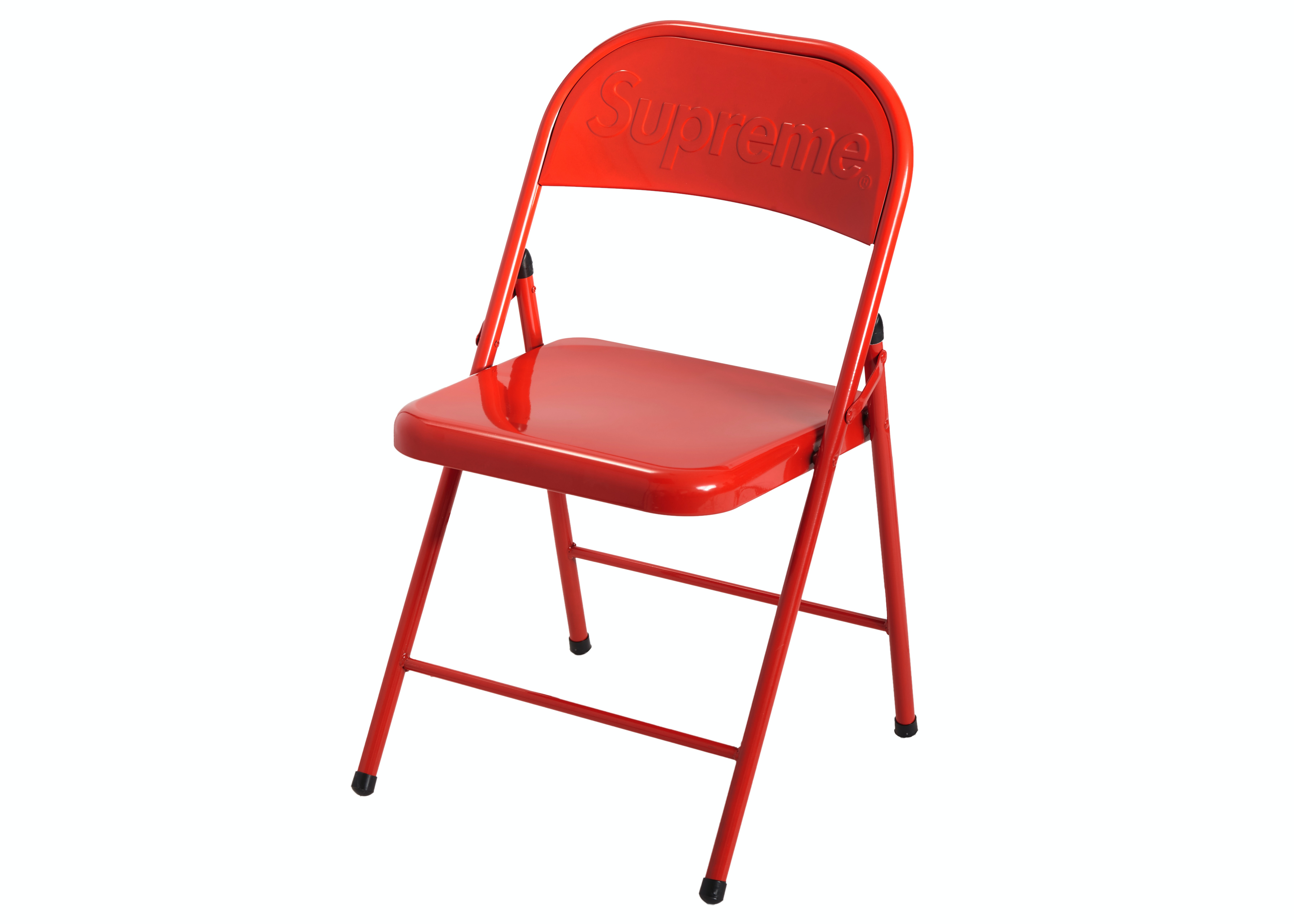 Supreme Metal Folding Chair Red Fw20