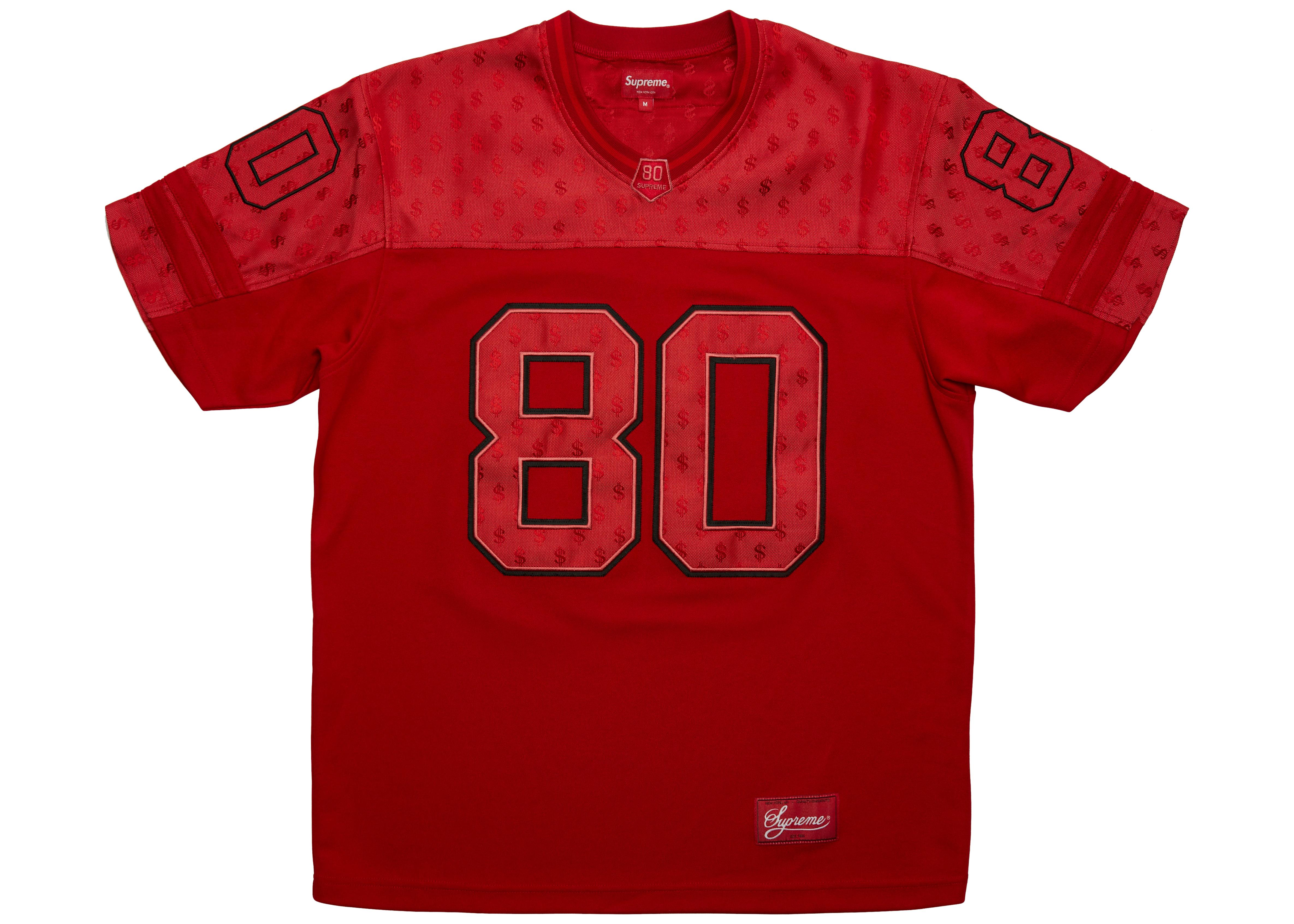 Supreme Monogram Football Jersey Red