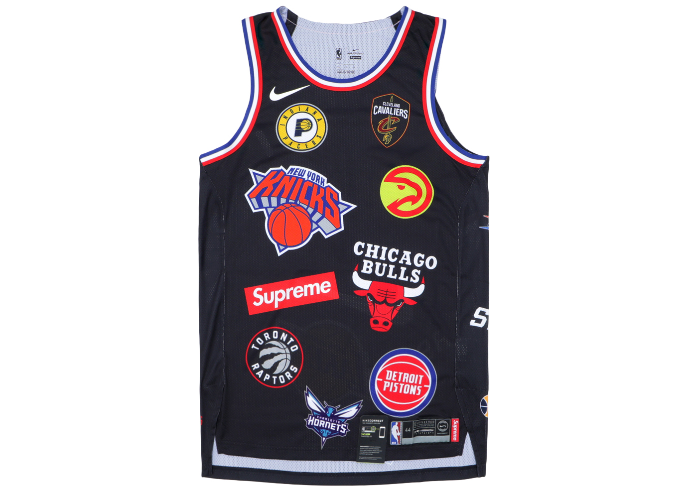 Supreme Nike/NBA Teams Authentic Jersey Black