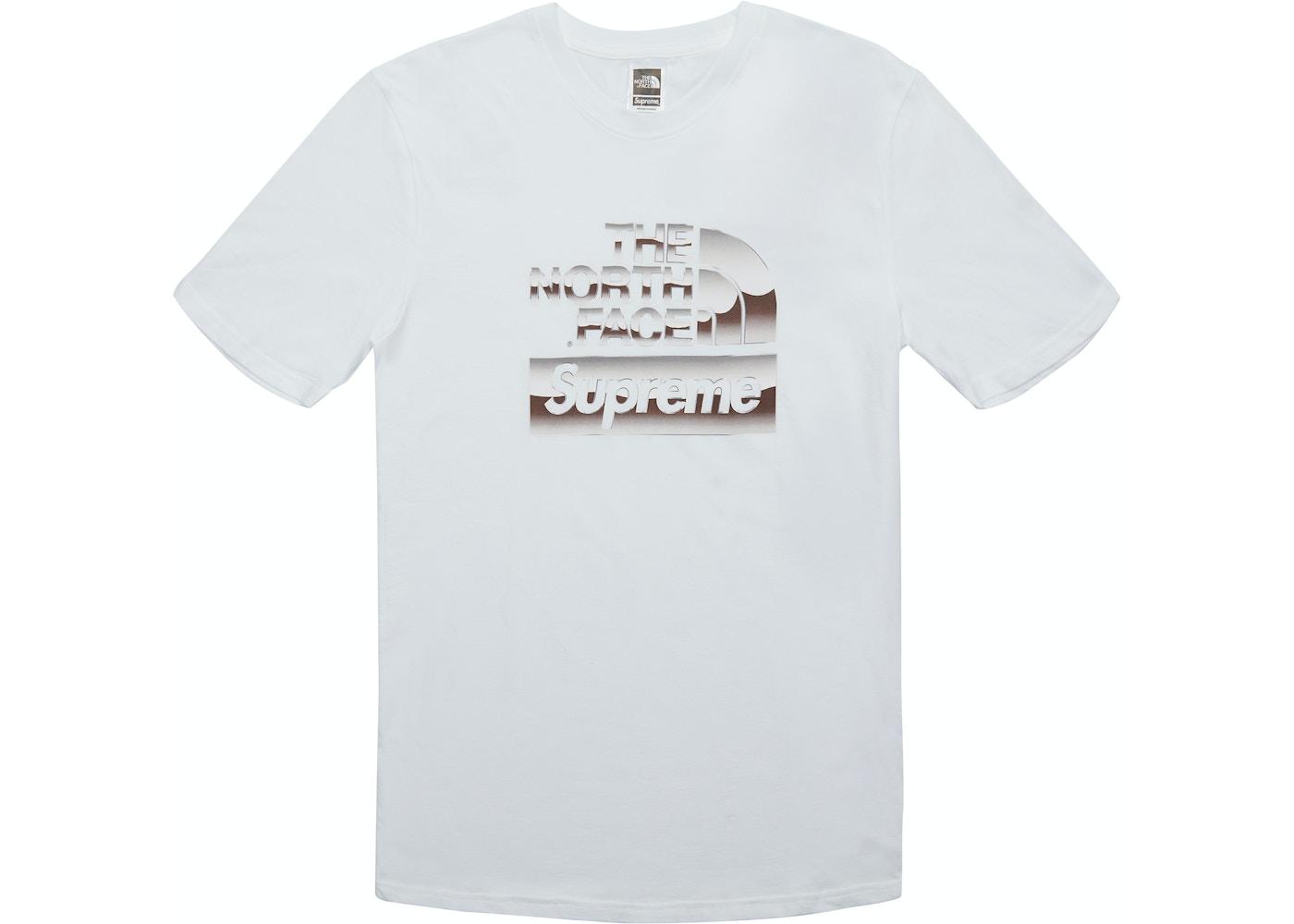North Face Metallic Logo T Shirt White