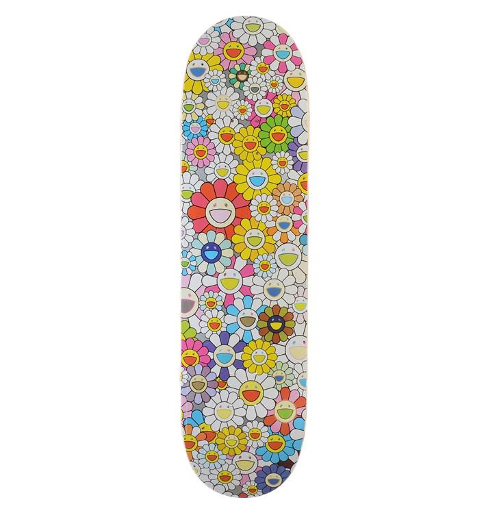 Takashi Murakami x Vans Vault Flowers Skateboard Deck Multi