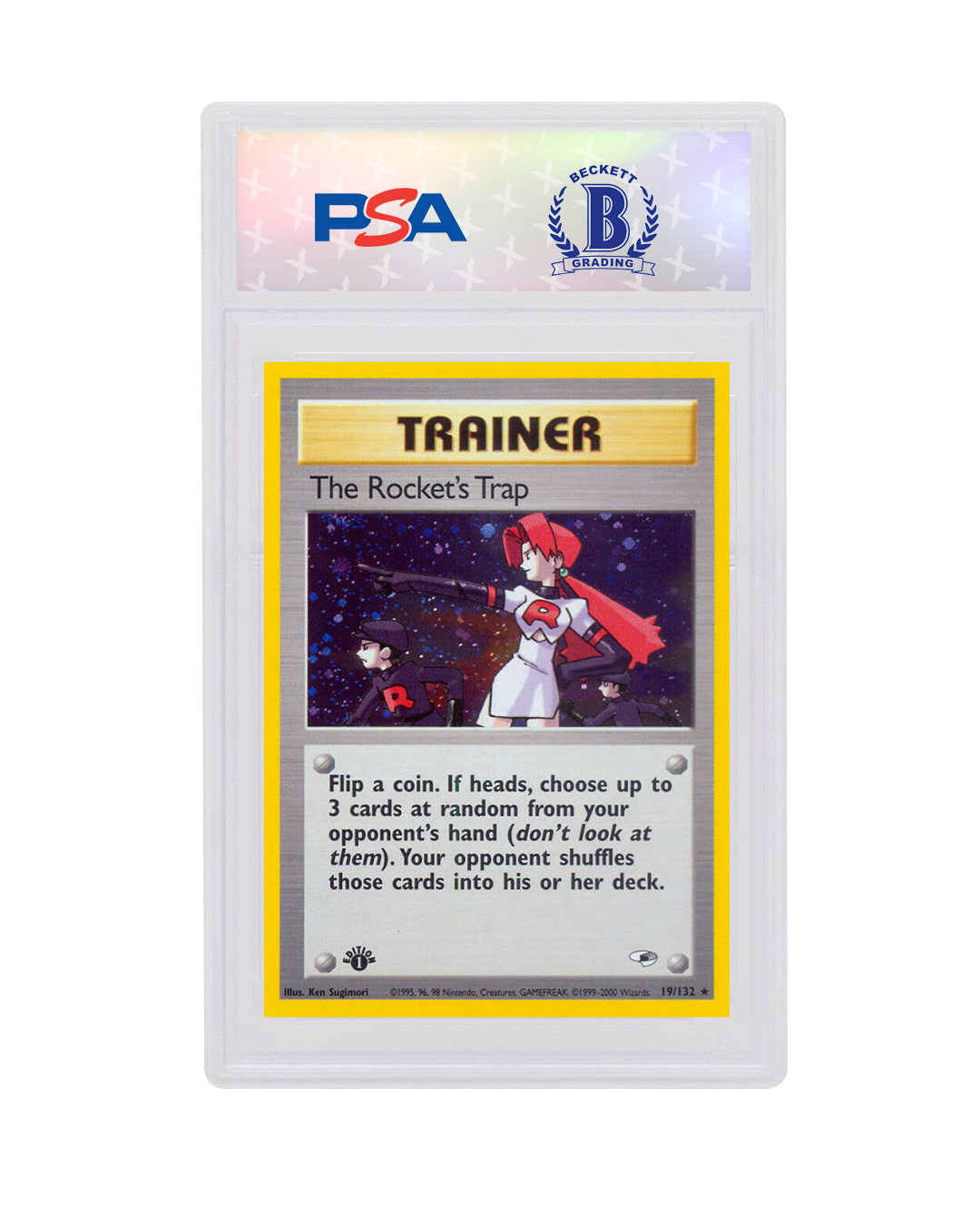The Rocket/'s Trap Trainer Holo Pokemon Card Gym Heroes 19//132