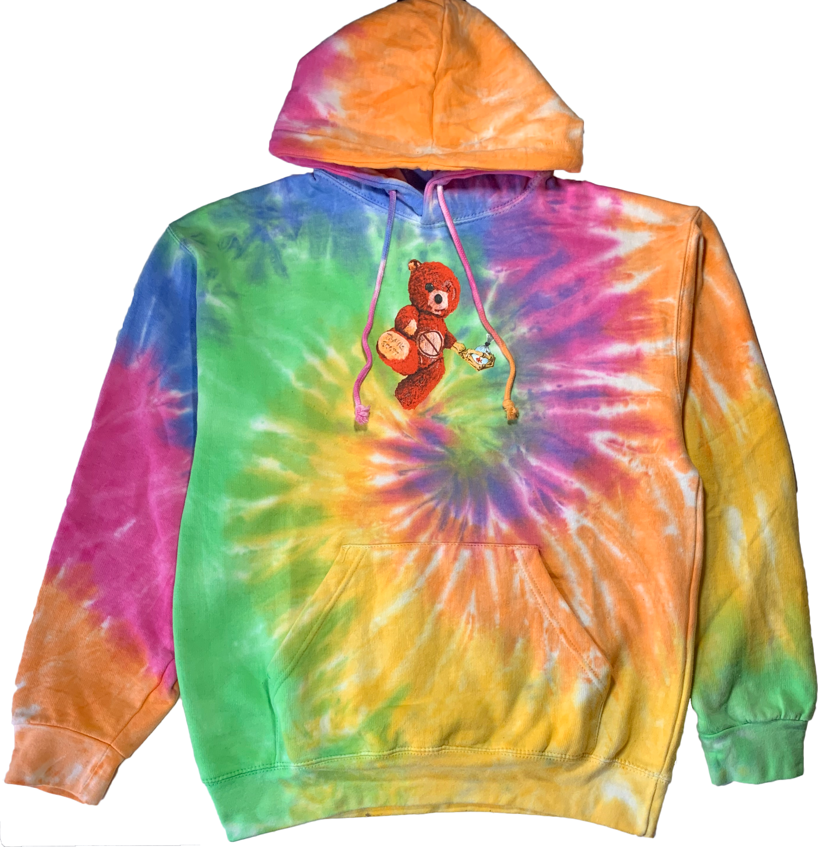 Ins Unisex Travis Scott Astroworld Europe tour Tie Dye Hooded Sweatshirt Hoodie