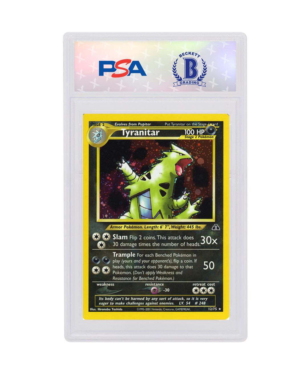 Tyranitar Holo Pokemon Card Neo Discovery 12//75