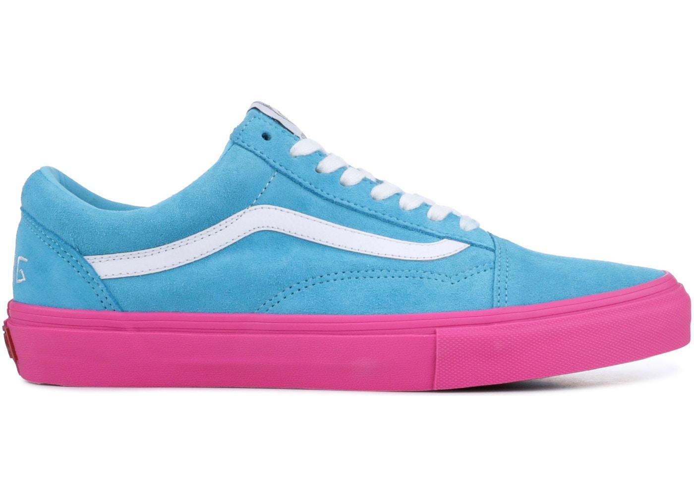 Vans Old Skool Pro S Golf Wang Blue Pink Vn0qhmf5e