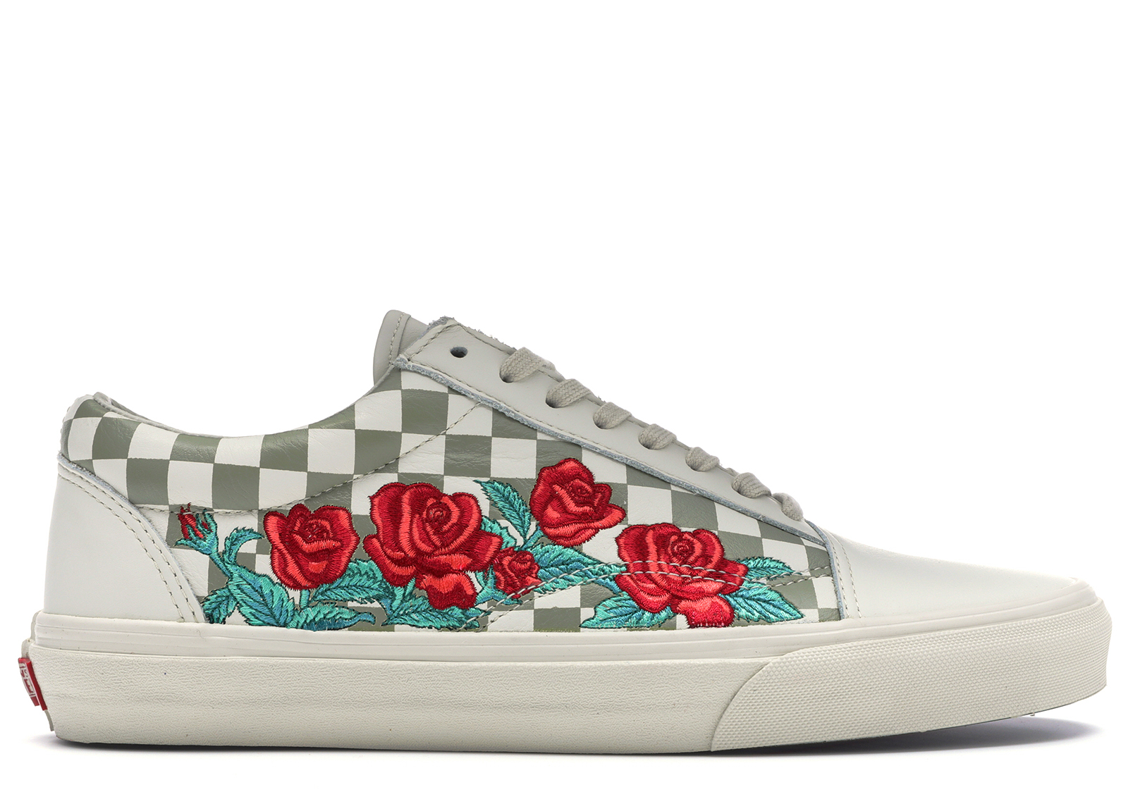 Vans Old Skool Rose Embroidery (White) - VN0A38G3QF9