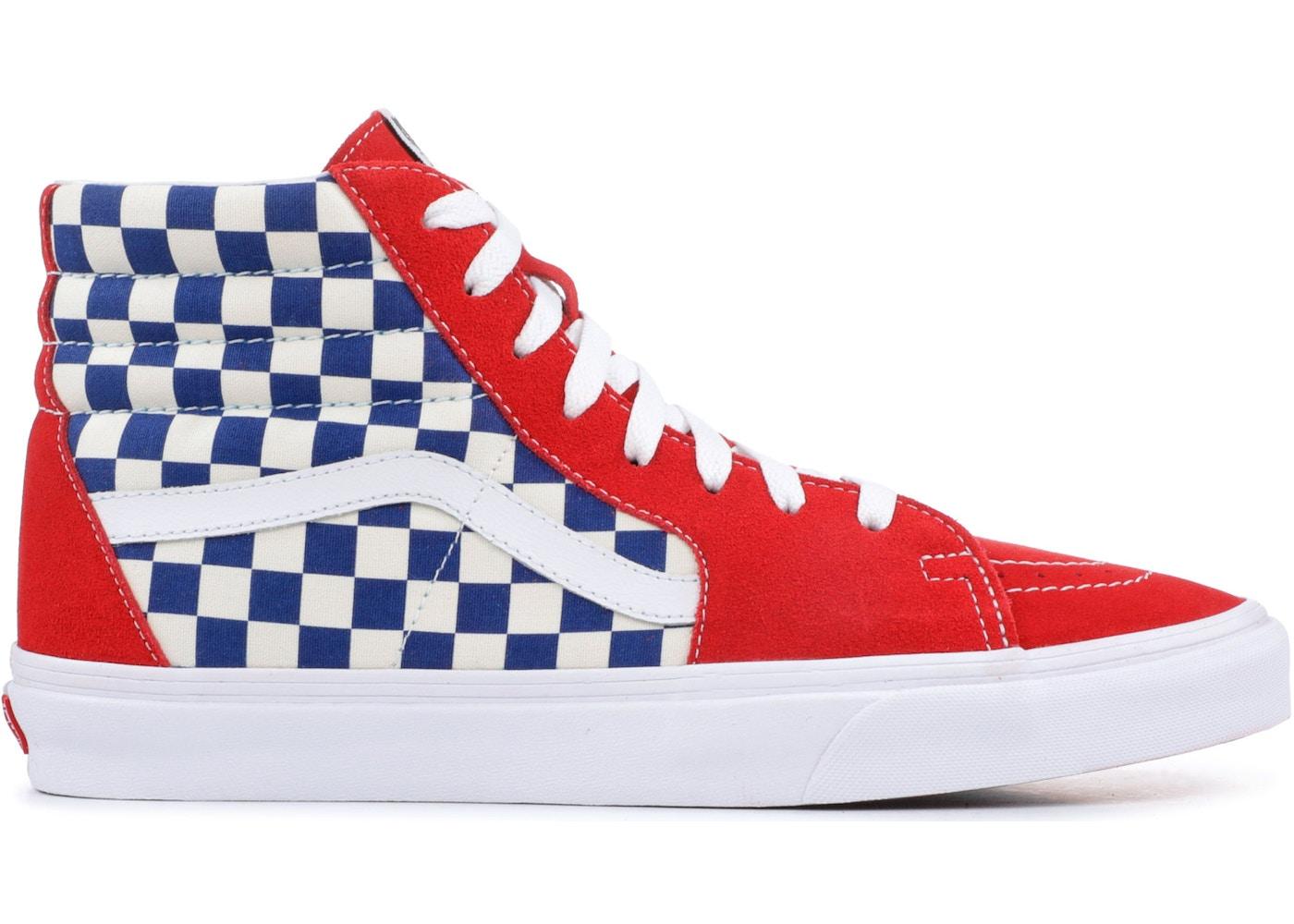 Vans Sk8-Hi BMX Checkerboard True Blue Red