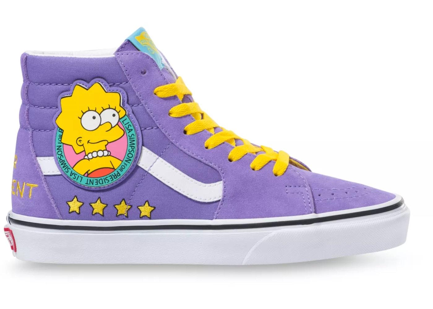 Vans Sk8-Hi The Simpsons Lisa