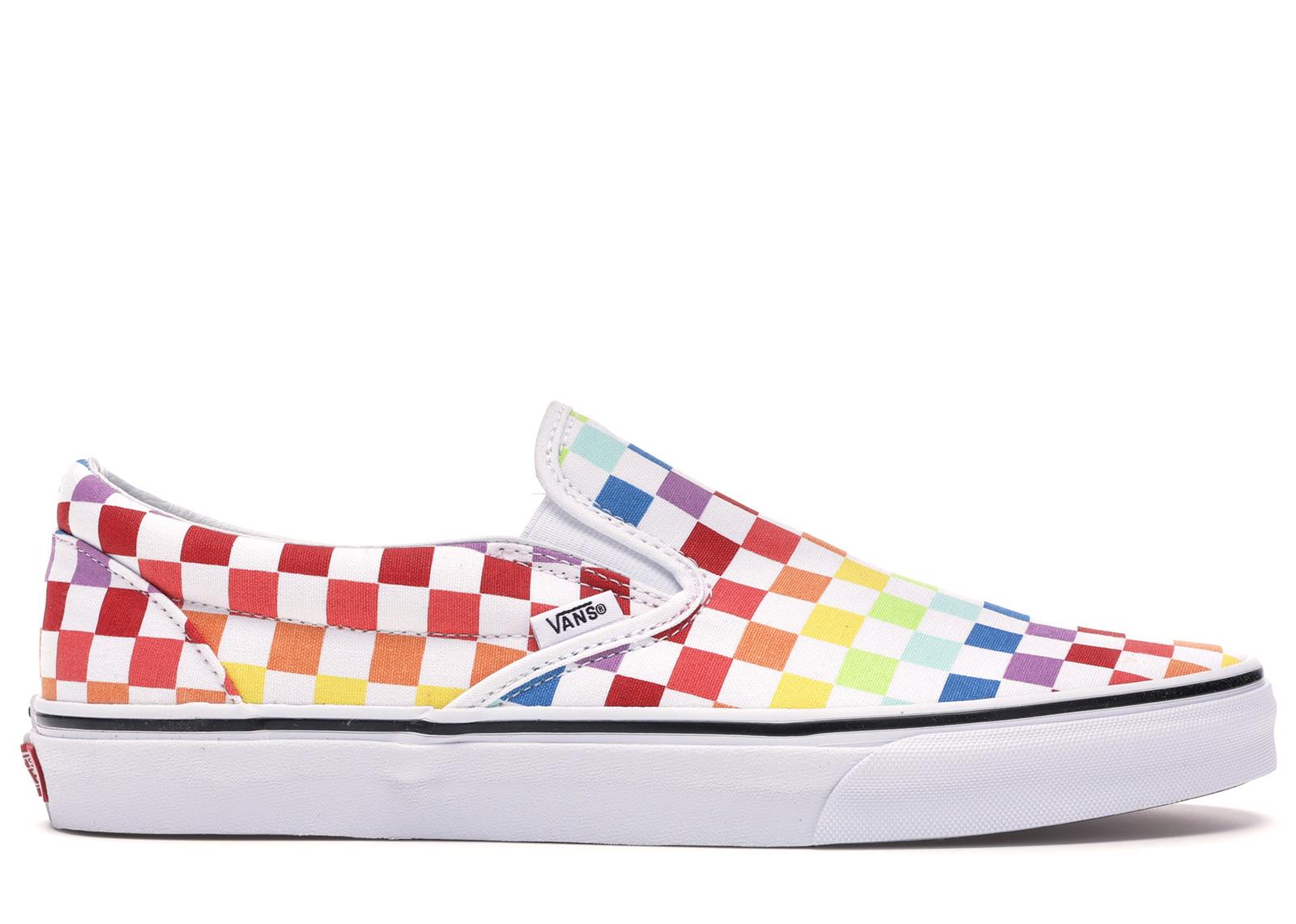 Vans Slip-On Rainbow Checkerboard - Sneakers