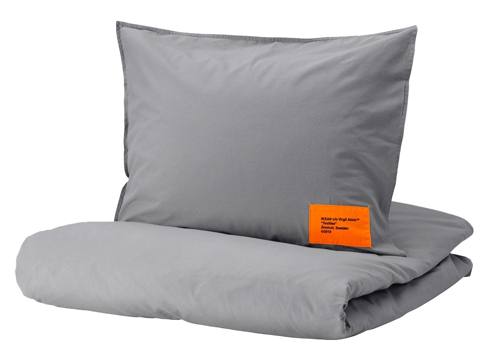 Virgil Abloh X Ikea Markerad Us Duvet Cover And 2 Pillowcases Full Queen Gray