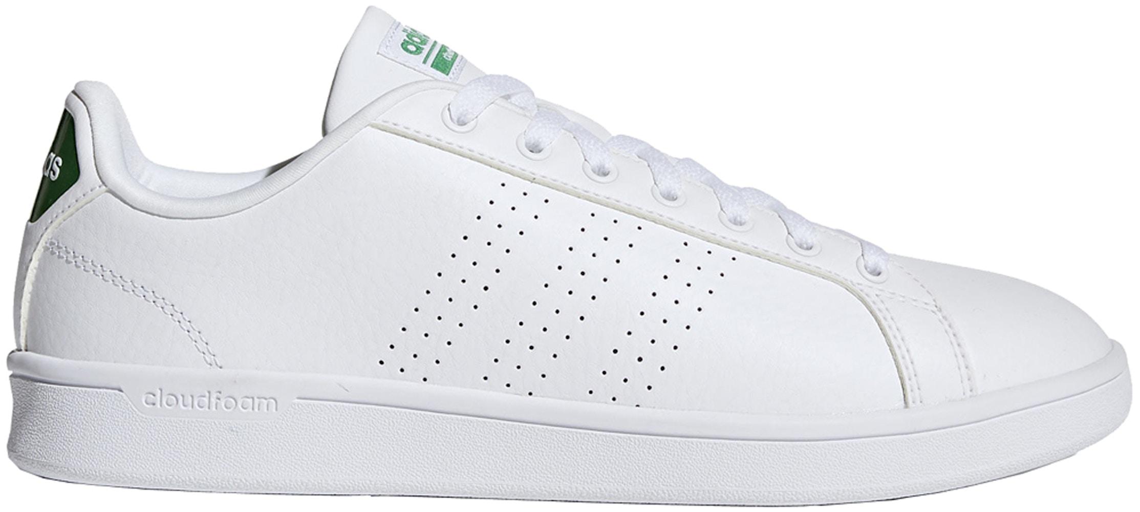 adidas Cloudfoam Advantage Clean White Green