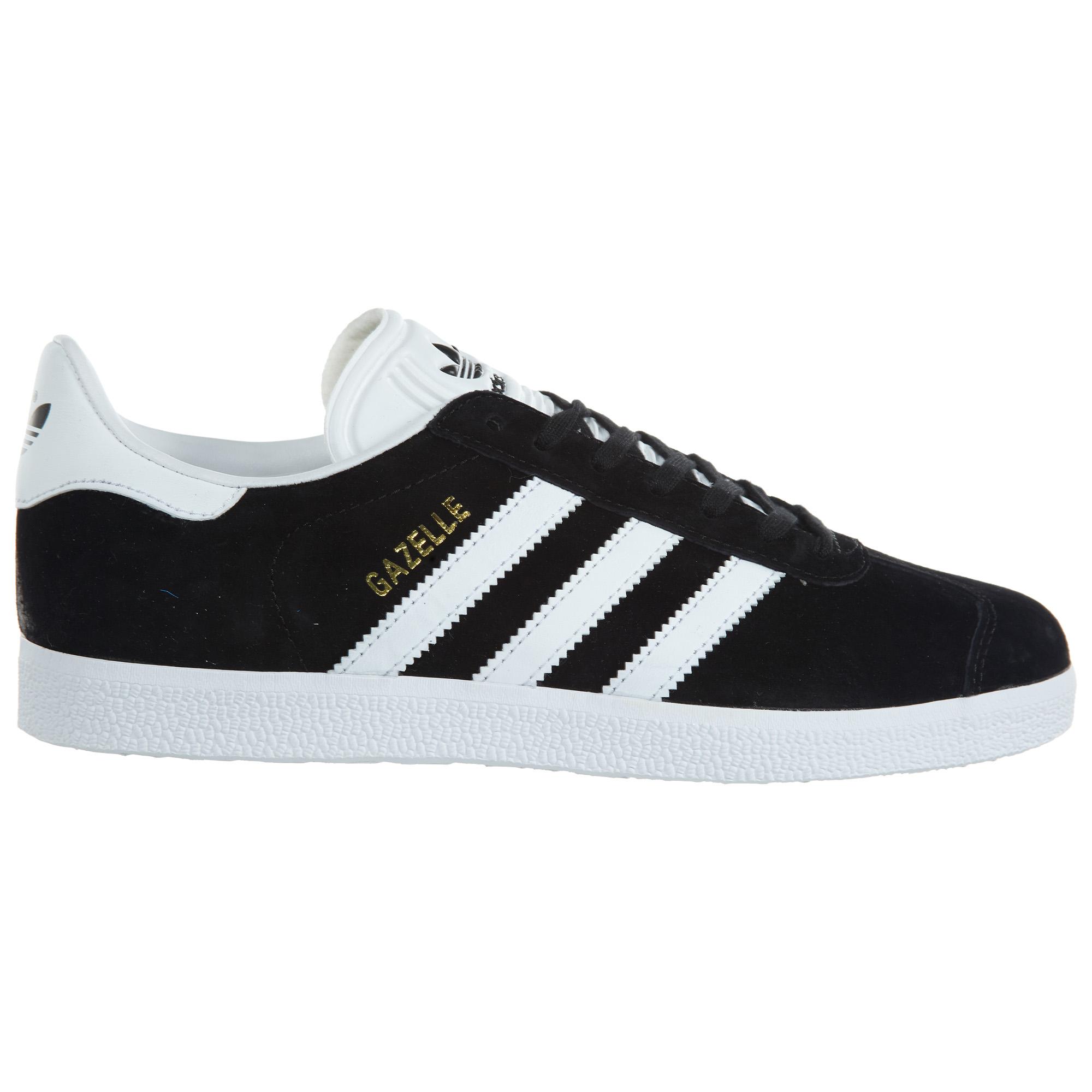 adidas Gazelle Black White-Gold Metallic (W) - BA9595