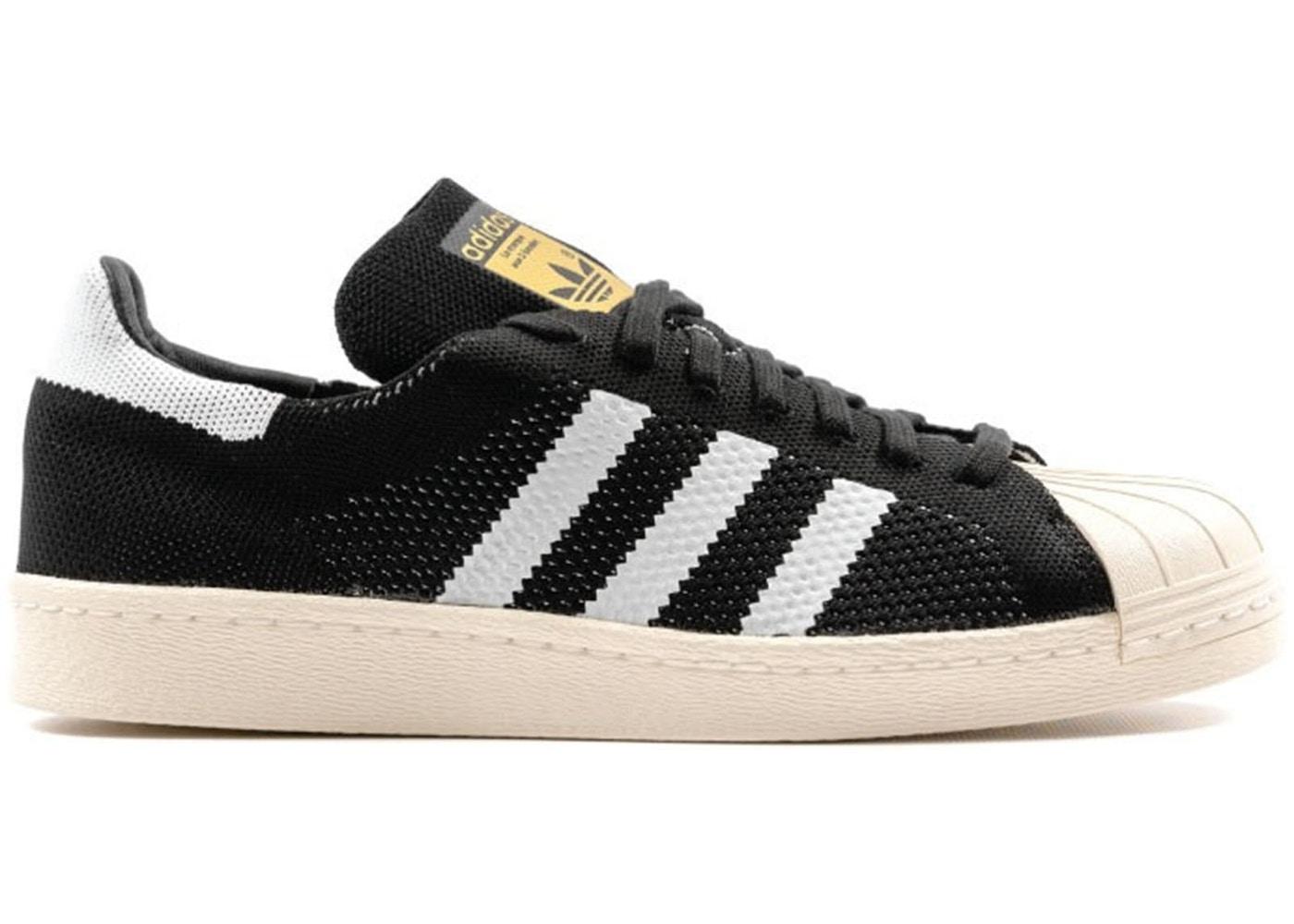 adidas Superstar 80s Primeknit Black White - S77439
