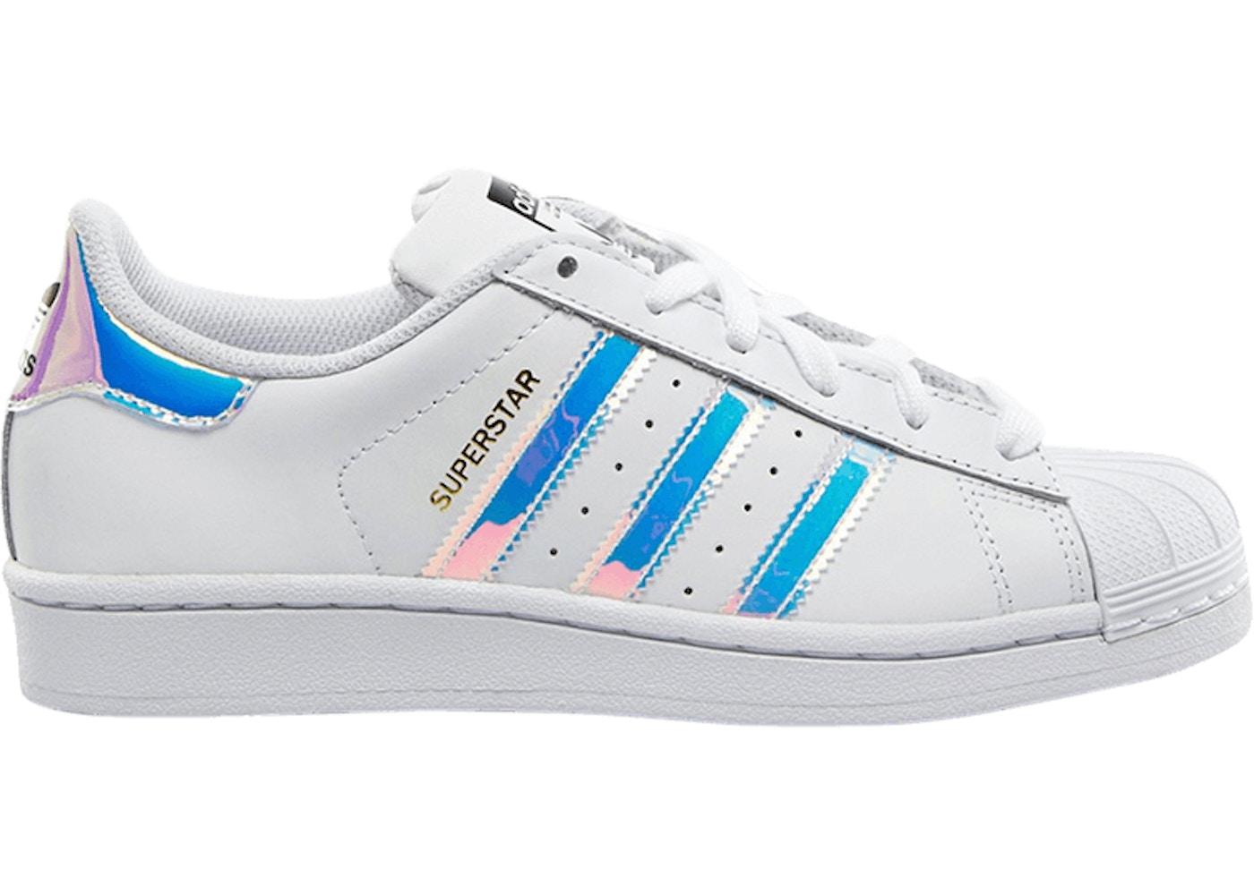 adidas Superstar White Iridescent (Youth) - AQ6278