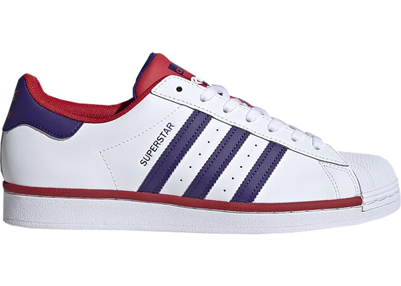 adidas Superstar White Purple Scarlet