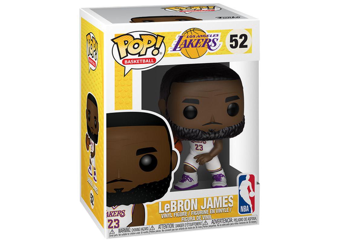 Funko Pop! Basketball Los Angeles Lakers Lebron James (White Jersey) Figure #52