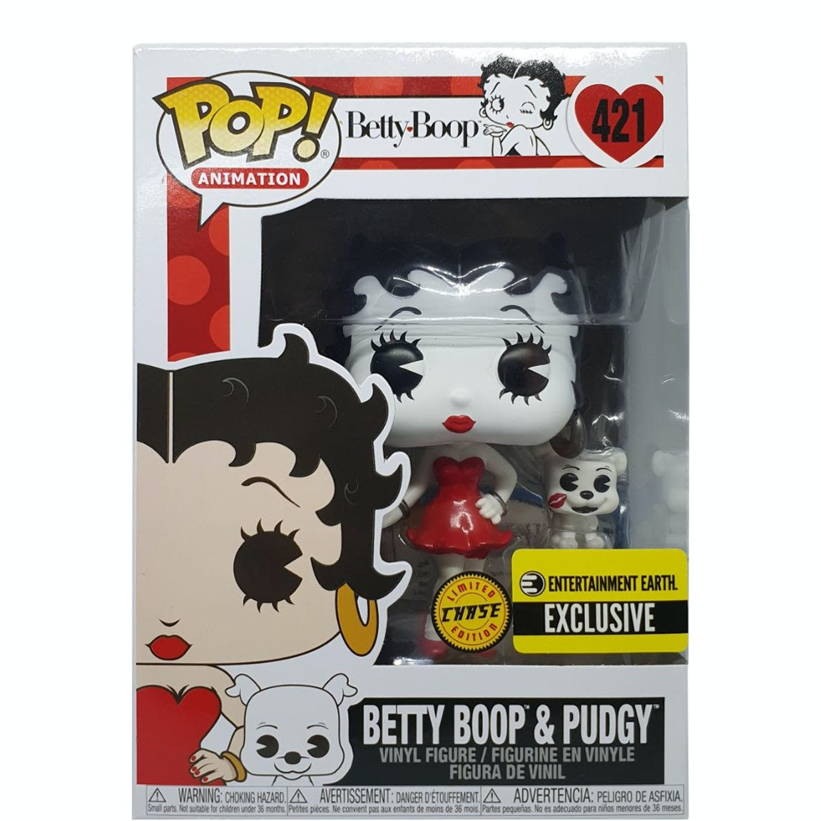 Animation BETTY BOOP SOCK HOP Betty Figur 10cm OVP with Pudgy Funko POP