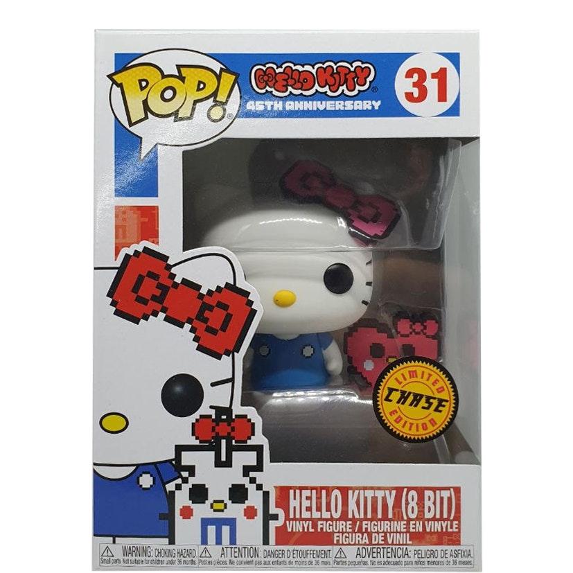 """HELLO KITTY 3.75/"""" POP Vinyl Figure FUNKO Neuf 45TH ANNIVERSAIRE 31 8 bits"""