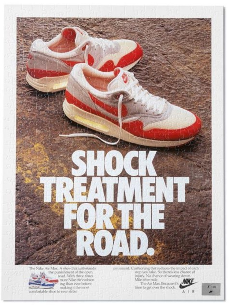 Nike Vintage Ad 1987 Shock Treament For The Road Puzzle -