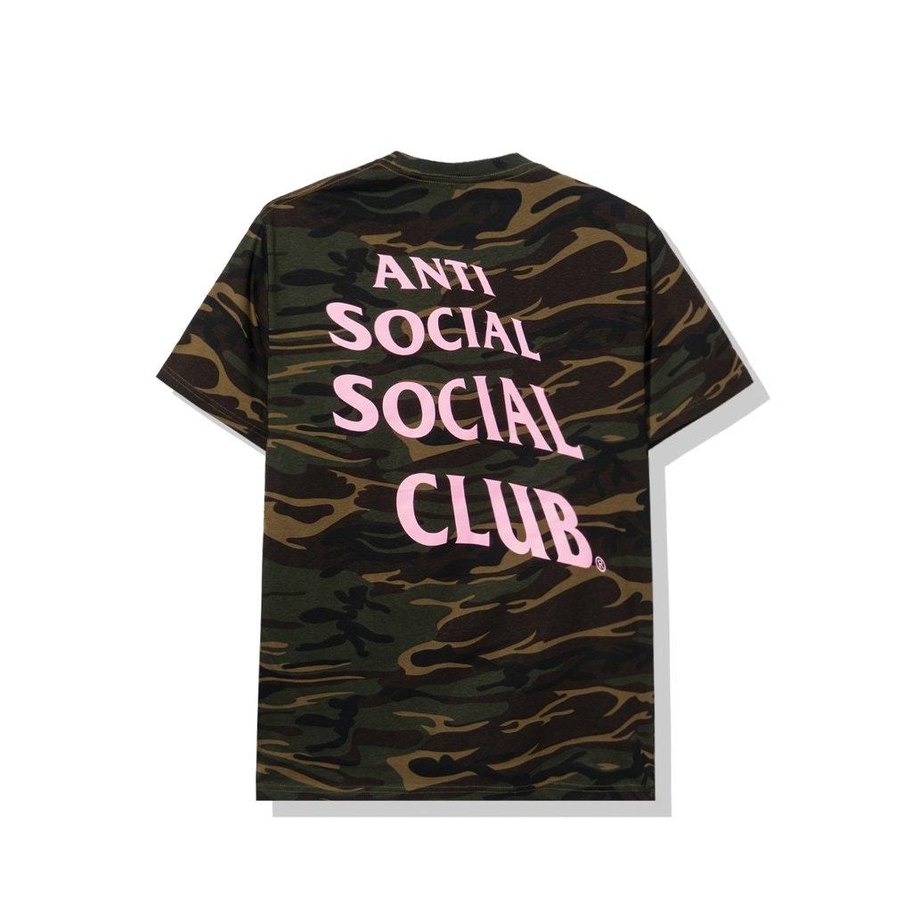 Anti Social Social Club Box Logo Camo Tee