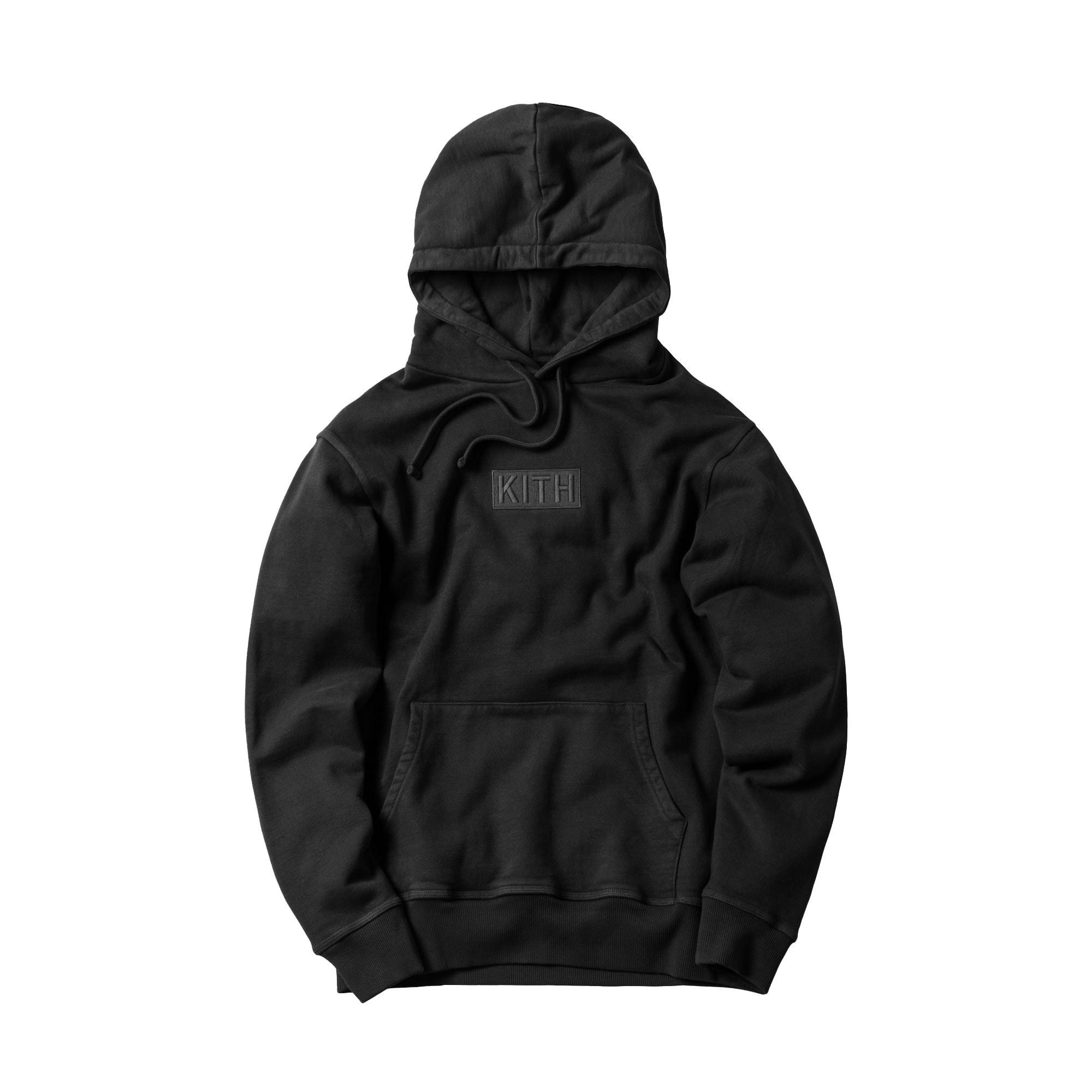 Kith Williams Classic Box Black On Blk Hoodie Sweatshirt BOGO Large L New Tags