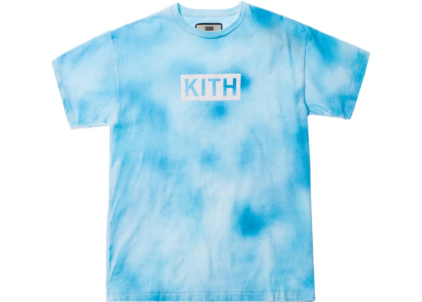 Kith Tie Dye Box Logo Tee Blue Ss18