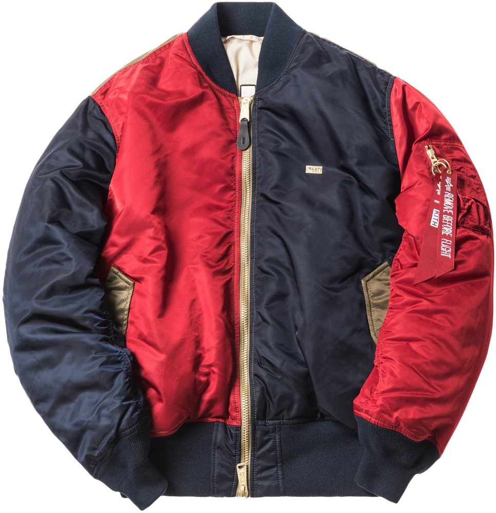 Kith x Alpha Industries MA-1 Bomber Navy/Red/Olive