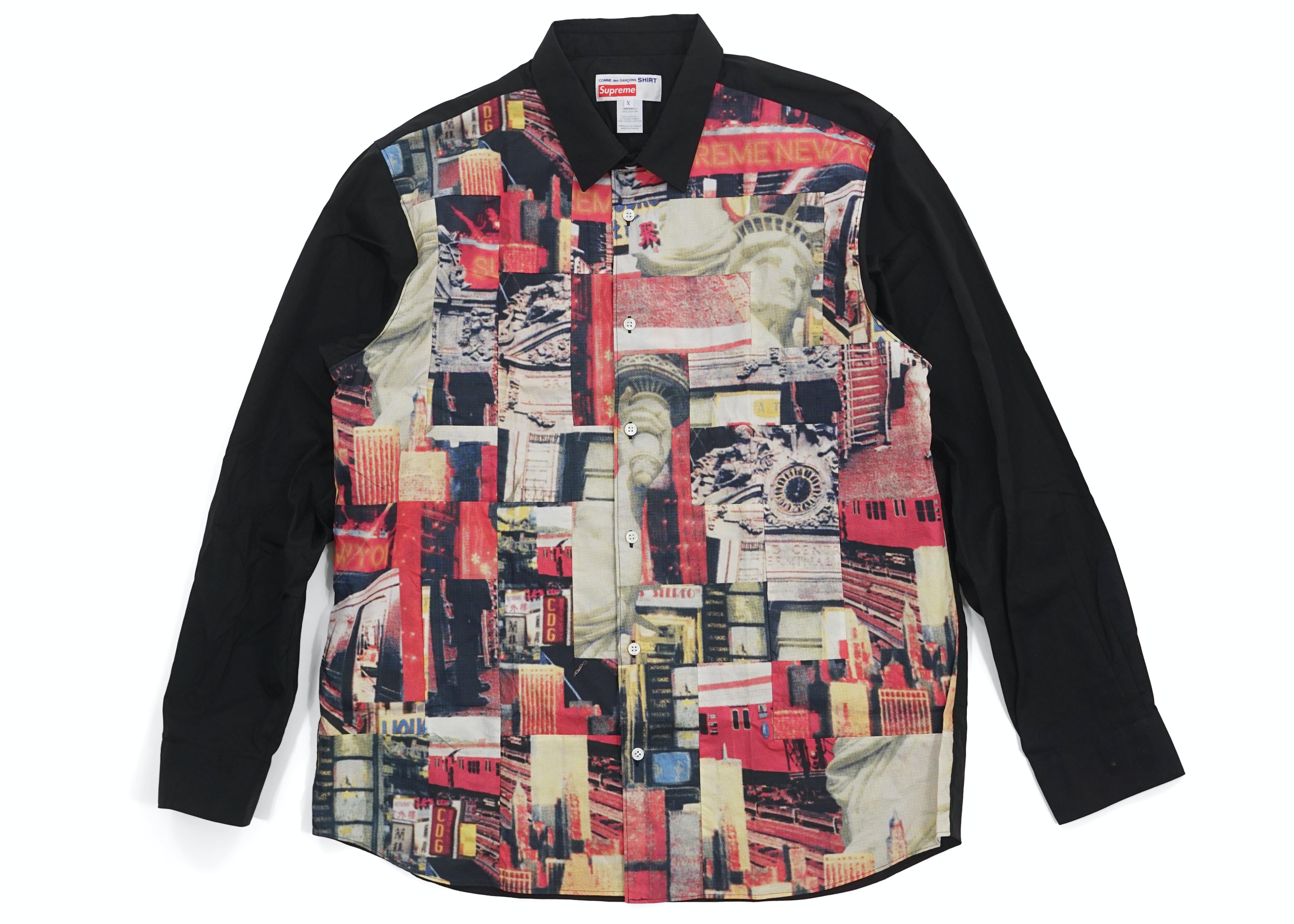 patchwork button up shirt