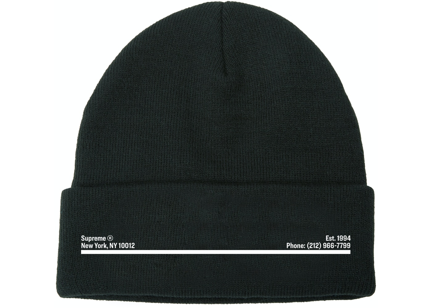 Supreme New Era Shop Beanie Black New York City Fw20