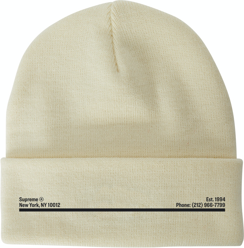 Supreme New Era Shop Beanie Natural New York City Fw20