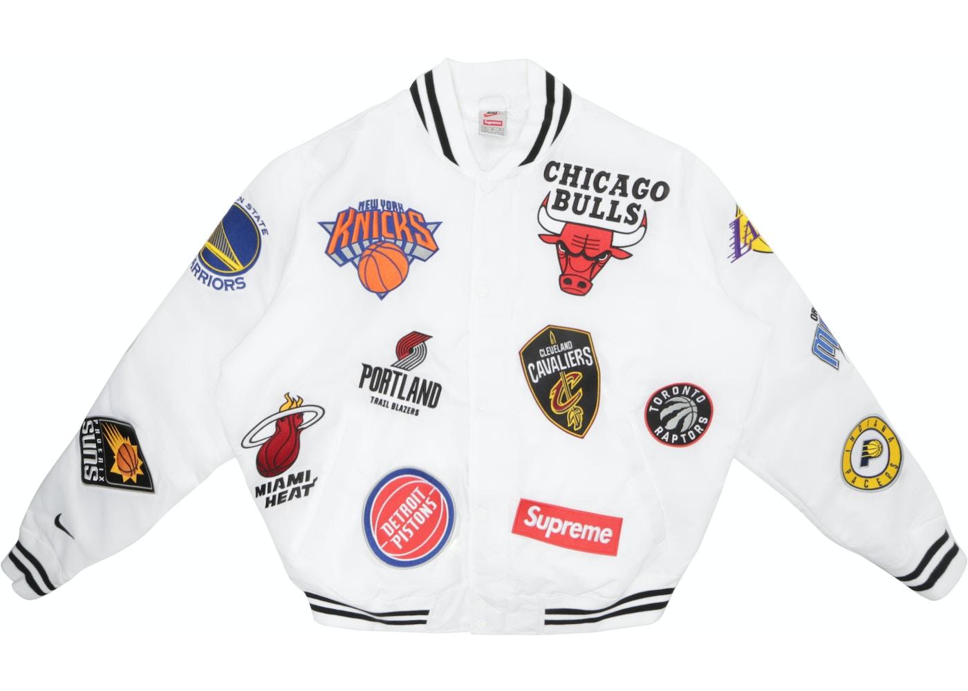 En honor Paine Gillic Hermano  Supreme Nike/NBA Teams Warm-Up Jacket White - SS18