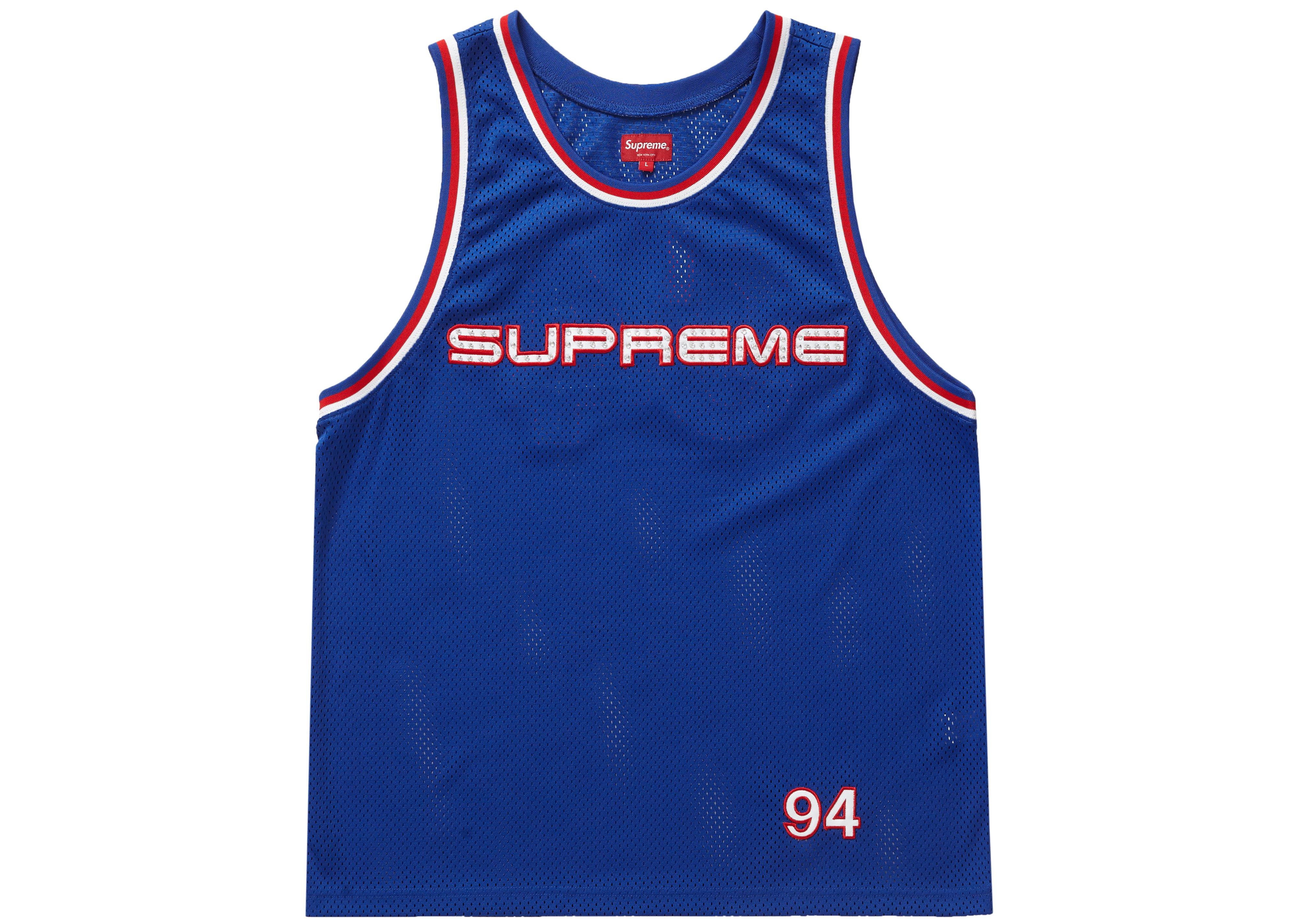 Supreme Rhinestone Basketball Jersey Royal