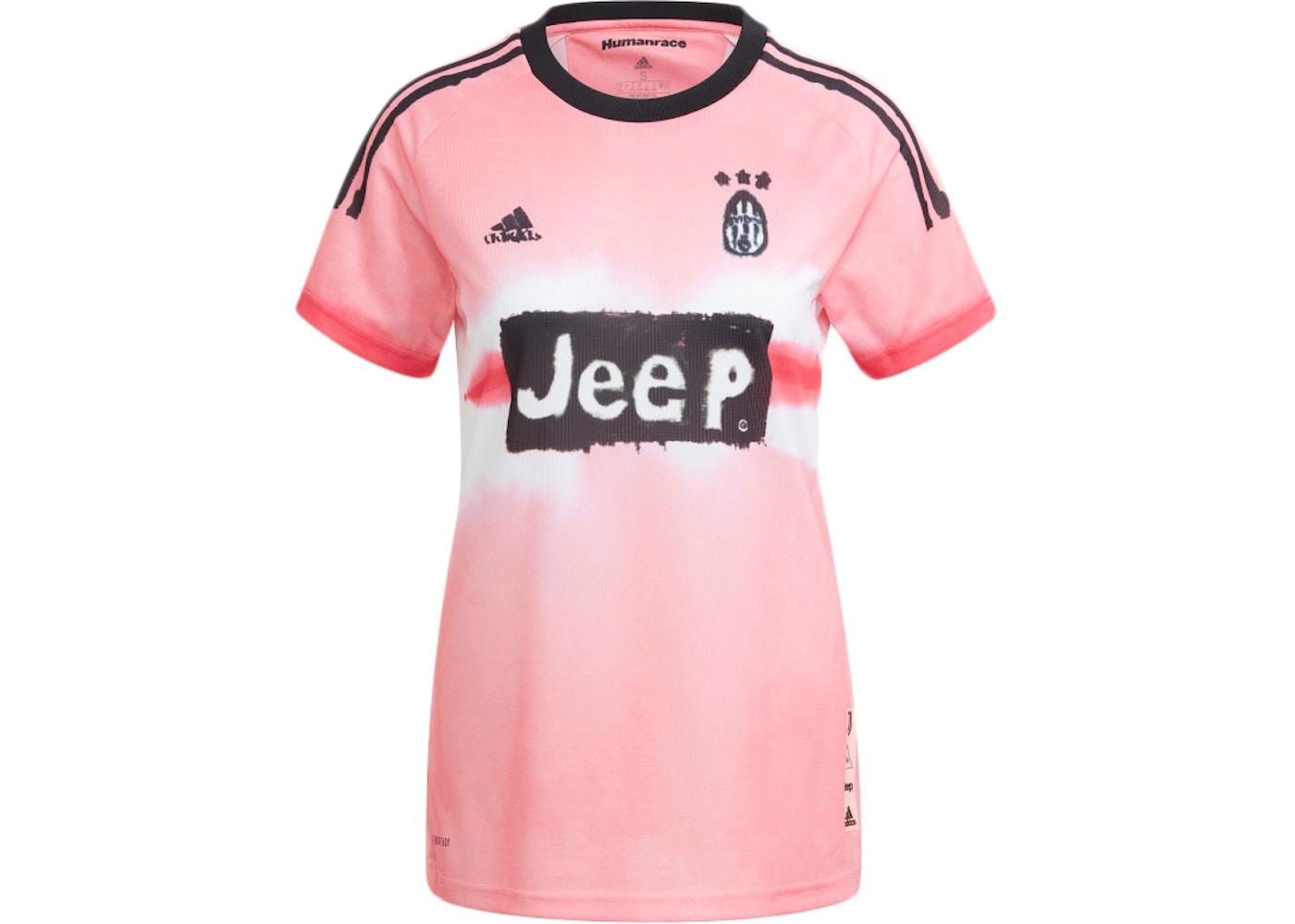adidas Juventus Human Race Womens Jersey Glow Pink/Black - FW20