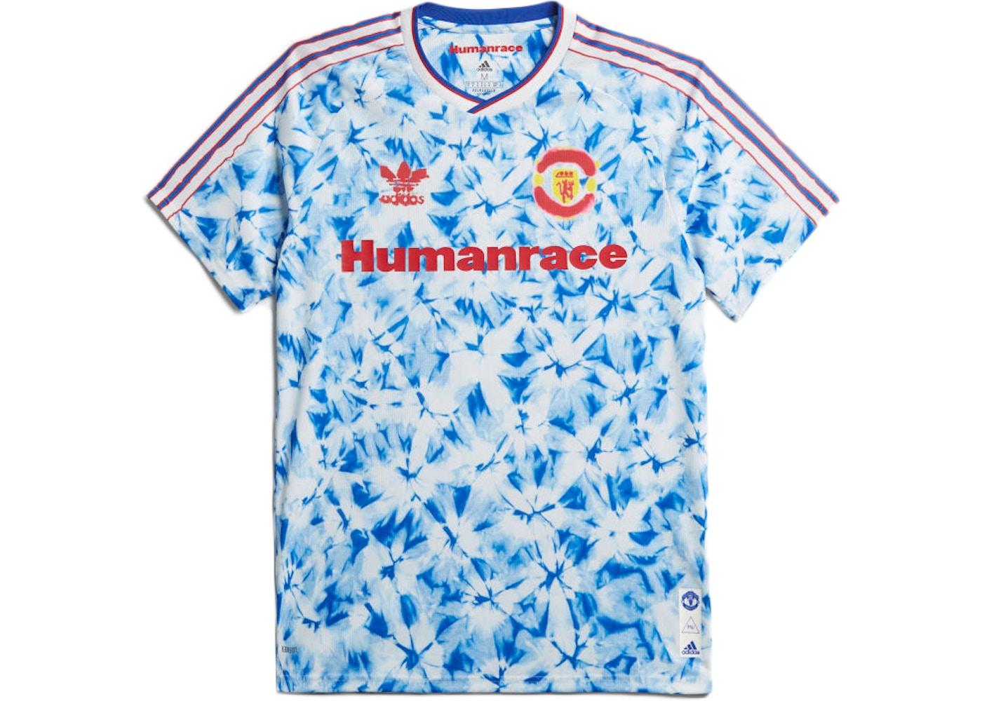 adidas Manchester United Human Race Jersey White/Bold Blue